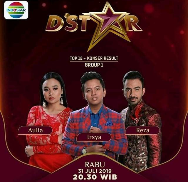 Hasil Konser Grup 1 Top 12 D'Star Indosiar 2019
