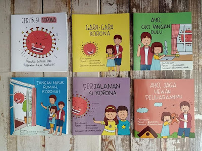 6 buku tentang Corona  untuk anak oleh Watiek Ideo