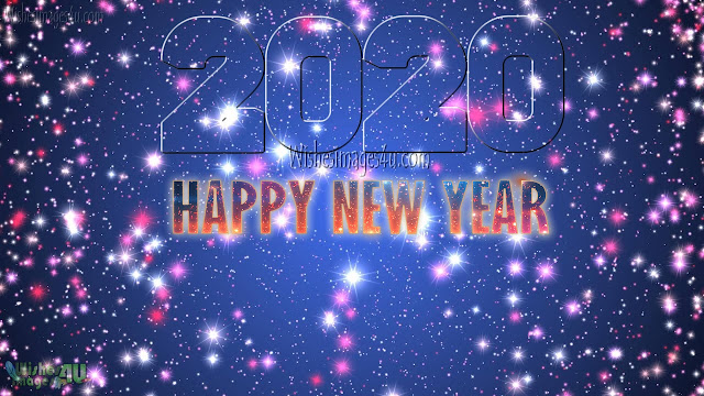 Happy New Year 2020 Sparkling Background Download Free