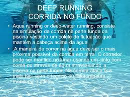 Exercícios dentro da água Deep Running na Dor Quadril