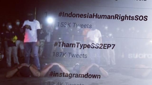<i>#IndonesiaHumanRightsSOS</i> Trending Topic, Netizen: Yang Menghabisi Nyawa Dianggap Pahlawan