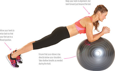 women's health - PLANK ON BALL