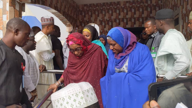 PHOTOS: Sanusi's mother at Awe before son's departure
