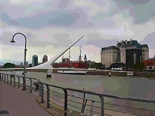 Puente de la Mujer, no bairro de Puerto Madero, em Buenos Aires