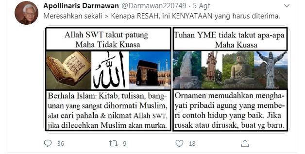 Tak Kapok-kapok Hina Nabi Muhammad dan Agama Islam, Apollinaris Darmawan Akhirnya Dicokok Polisi, Nyaris Jadi Bulan-bulanan Warga