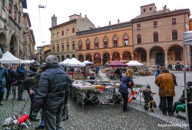 Feira de antiguidades de San Silvestro, em Bolonha