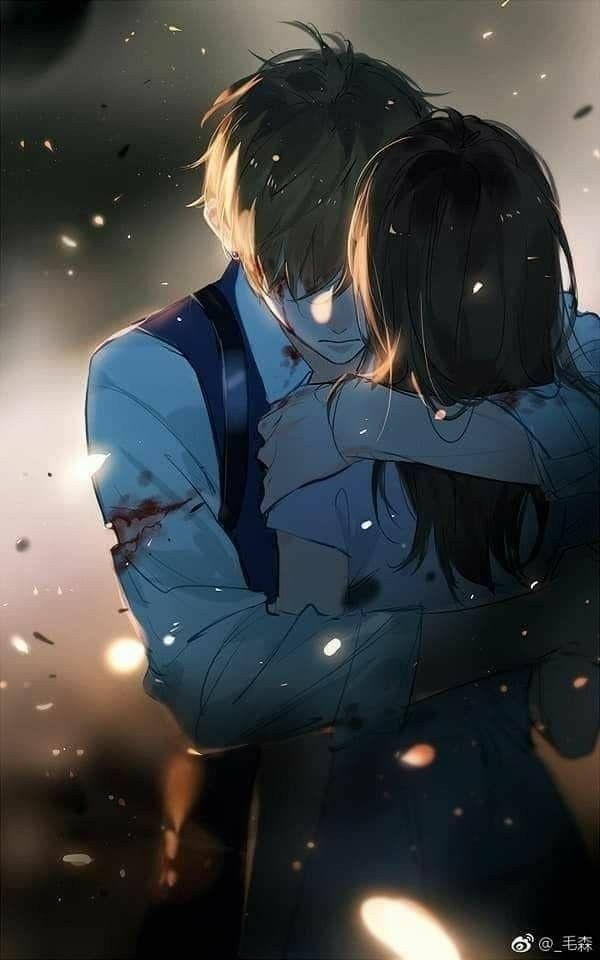 Foto anime romantis berdua