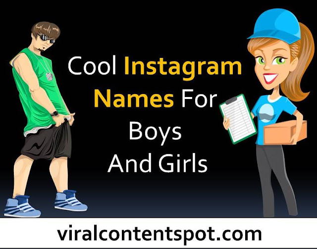 cool Instagram names for boys and girls