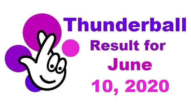 Thunderball Results for Wednesday, June 10, 2020