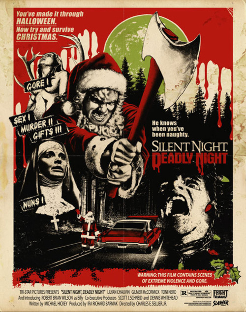 Cinematic shocks silent night deadly night 1984 a for Grindhouse poster template
