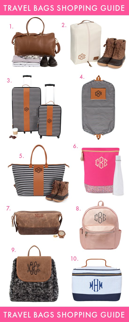 monogram bags for traveling