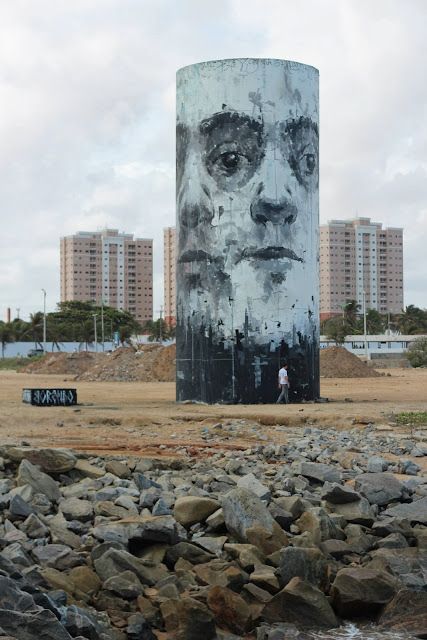 Street Art By Borondo For The Festival Concreto On The Beach Of Fortaleza, Brazil. 8
