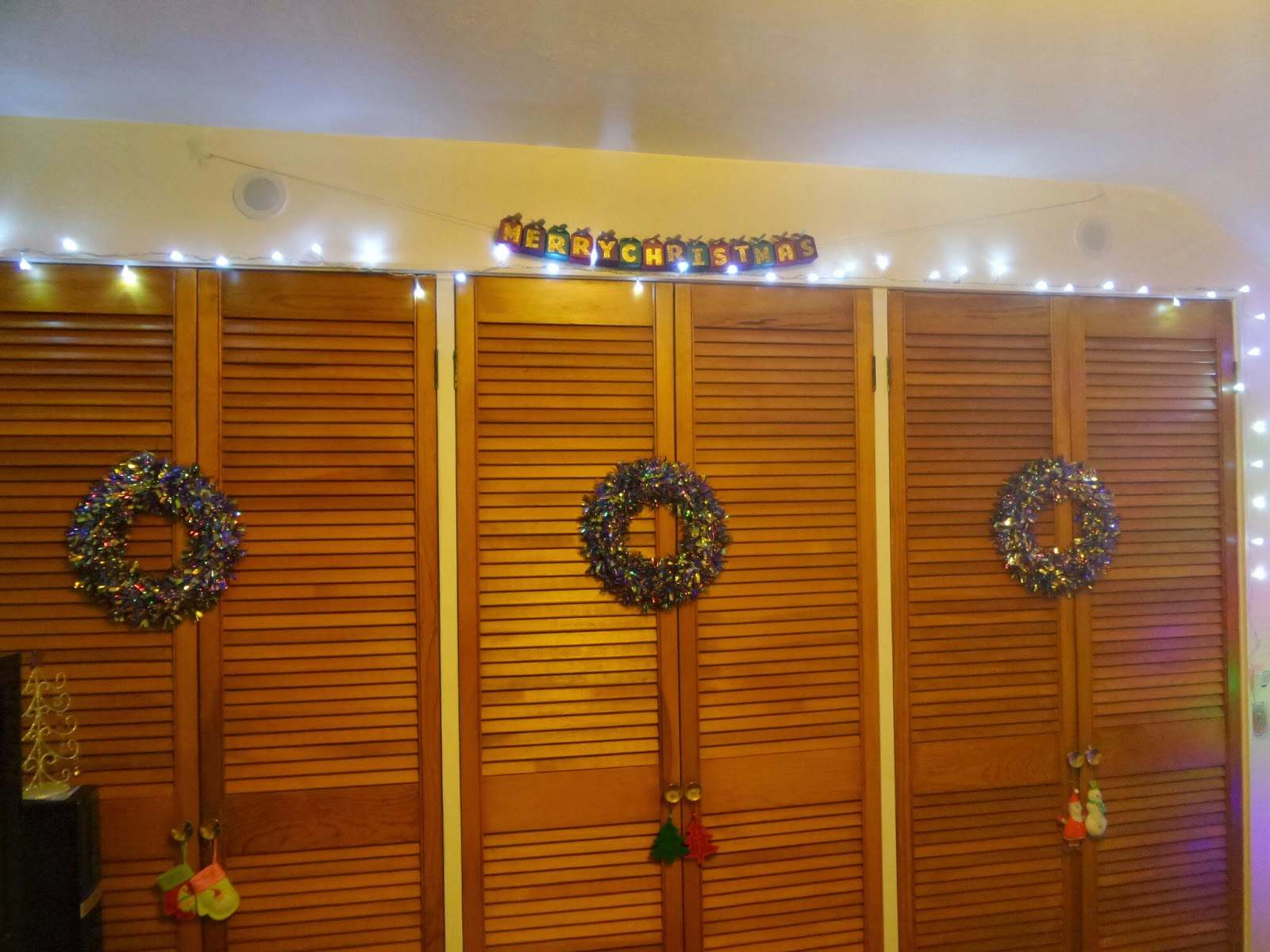 Christmas made over wardrobe doors