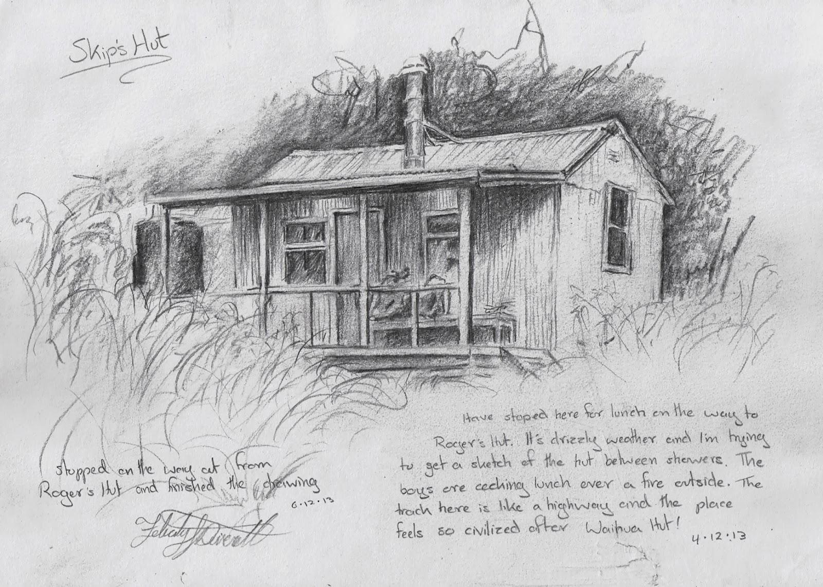 Felicity Deverell: Art of a Hut Tramp the First