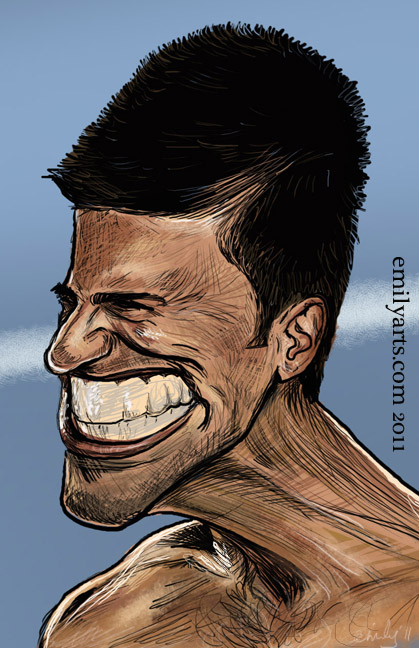 Emily S Caricature And Silhouette Blog Caricaturama Novak Djokovic
