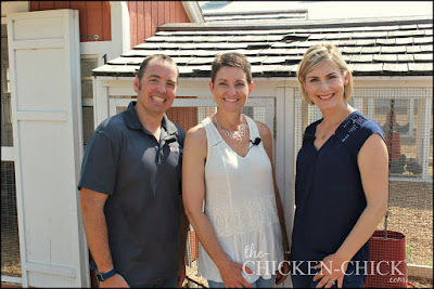 Dr. Patrick Biggs, poultry nutritionist, Kathy Shea Mormino, The Chicken Chick and Julie the Garden Fairy