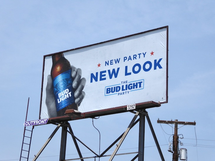 Bud Light New Look Party billboard