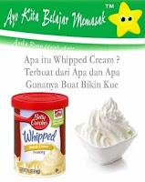 Apa itu Whipped Cream Terbuat dari Apa dan Apa Gunanya Buat Bikin Kue