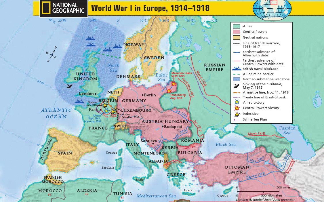 McNeil High School World History: WWI Map