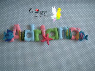 nombre-fieltro-Adriana-elbosquedelulu-felt-feltro-decoración-infantil-hechoamanoparati-regalopersonalizado