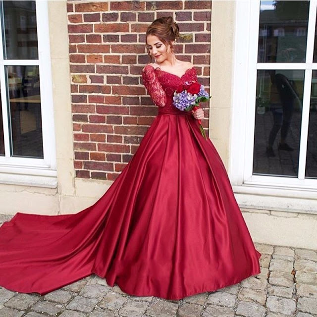 Burgundy Wedding Dresses Gowns New