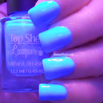 Top Shelf Lacquer  Electric Smurf Martini swatches