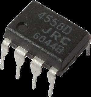 Penyebab Power Amplifier rakitan suara serak - IC OP AMP 4558D