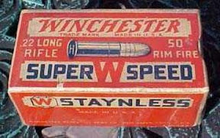 Red Blue Staynless .22 LR Vintage Box