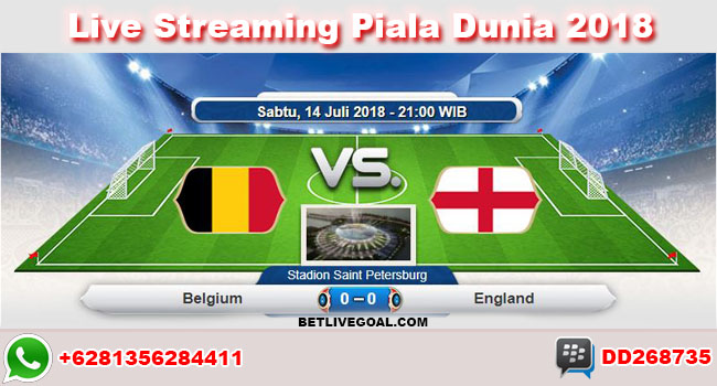 live streaming belgium vs england 14 juli 2018