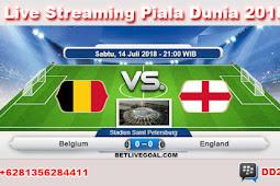 Live Streaming Belgium vs England 14 Juli 2018