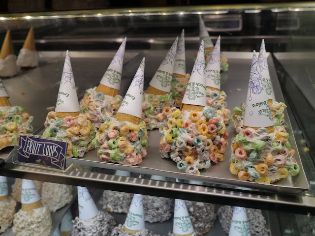 Fruit loops cones at Emack & Bolio's in Hong Kong