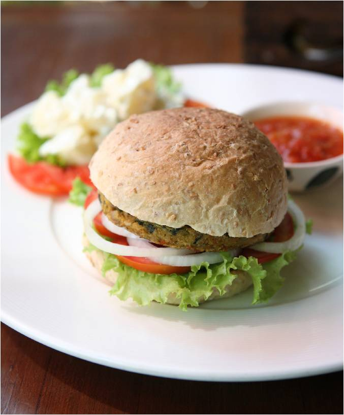 Cilantro Turkey Burgers (serving suggestion)