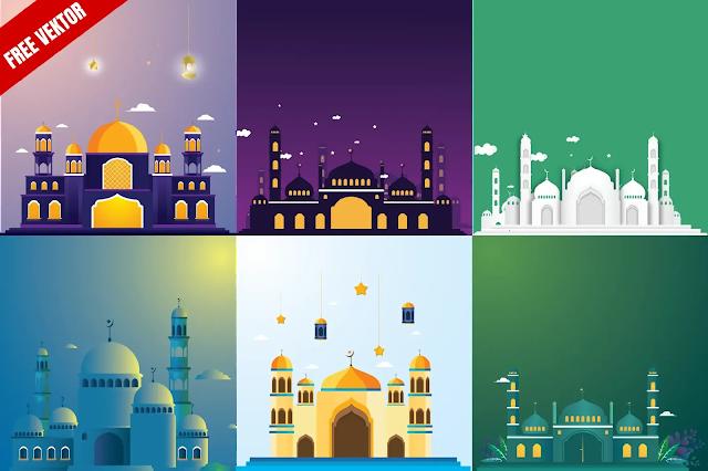 Kumpulan Vektor Mesjid Keren Coreldraw Dan Illustrator