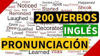 200 verbos regulares e irregulares en inglés con pronunciación