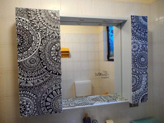 Decoriciclo specchiera del bagno zentangle inspired art for Idee di coperta sopra il seminterrato di sciopero