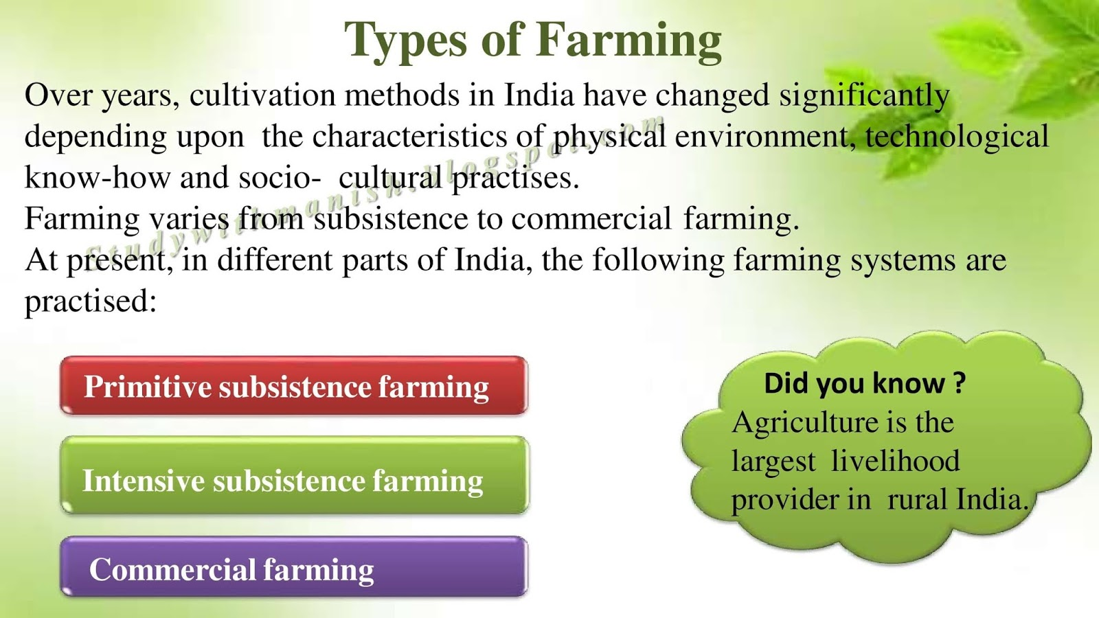 Agriculture Class 10th Ppt