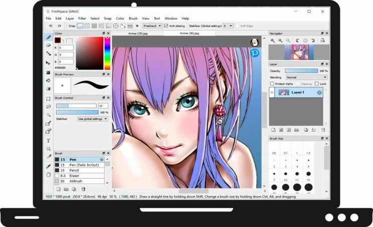 FireAlpaca : Λογισμικό ζωγραφικής για Mac και Windows