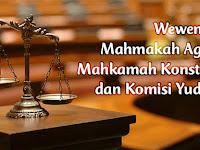 Wewenang Mahmakah Agung, Mahkamah Konstitusi, dan Komisi Yudisial