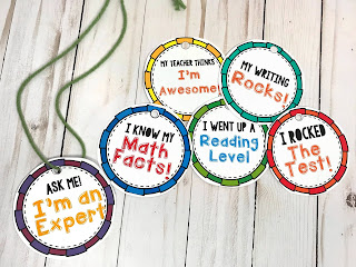 Accomplishment necklaces are a great way to help boost a students confidence in the classroom
