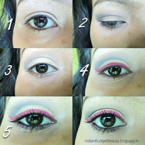 TUTORIAL on Pink Winged Liner Summer EOTD