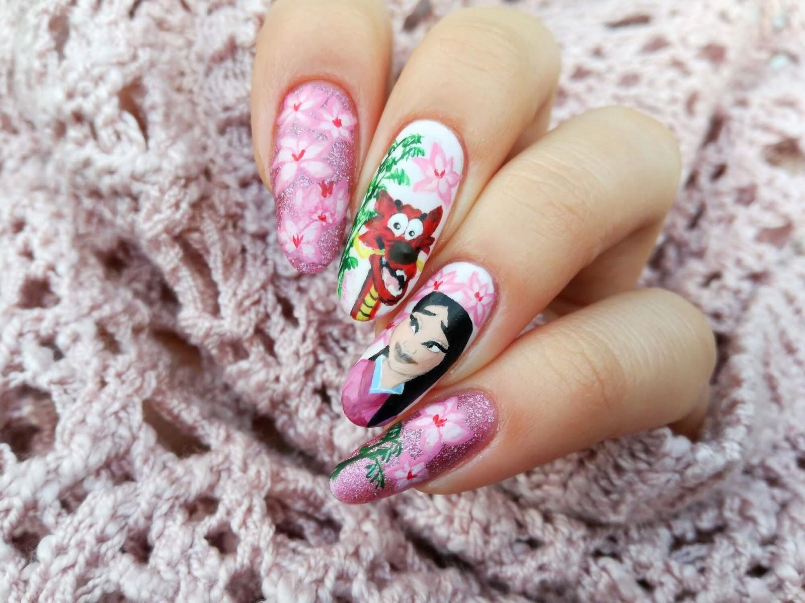 bajkowe paznokcie Mulan