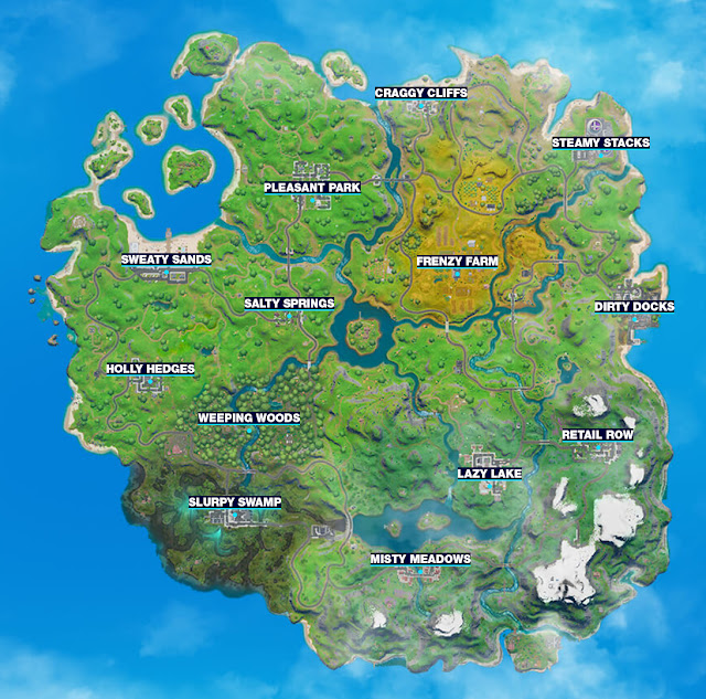 THE MAP OF FORTNITE CHAPTER 2, NEW MAP