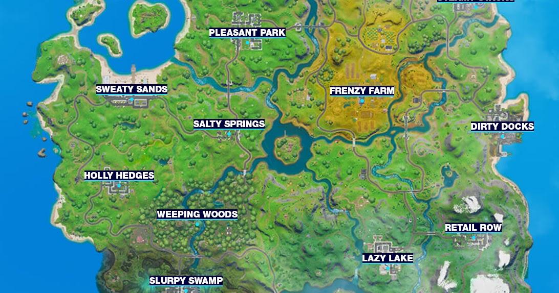 Fortnite Info Fortnite Map Chapter 2 Season 1 New Map