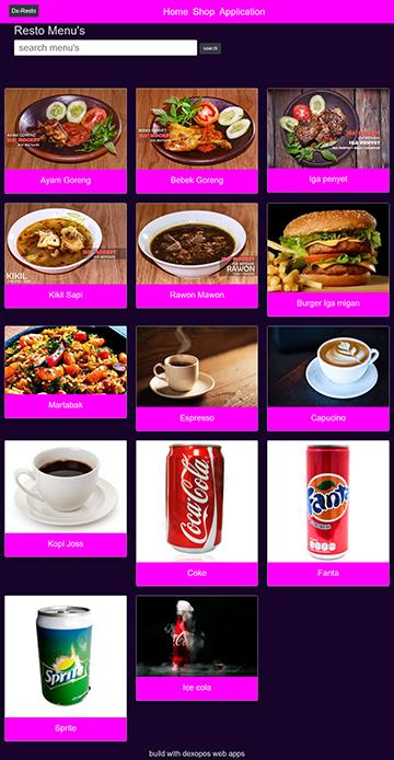 pembuatan website restoran cafe rumah makan terbaru aplikasi restoran mesin kasir online