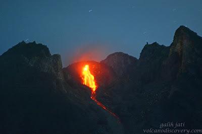 Merapi Glowing Rock Fall