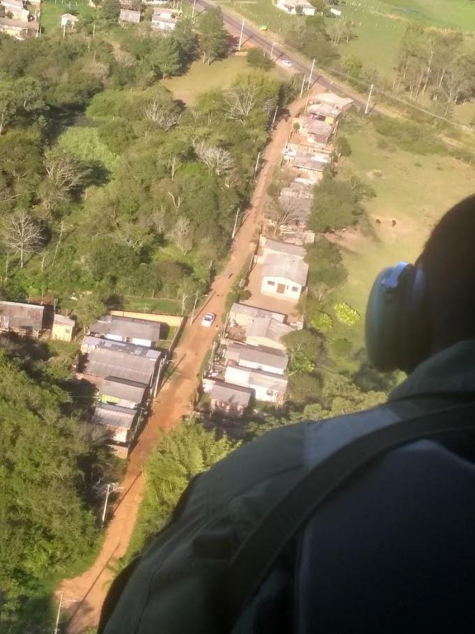 Operação da BM em Gravataí conta com apoio de helicóptero