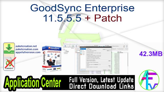 GoodSync Enterprise 11.5.5.5 + Patch
