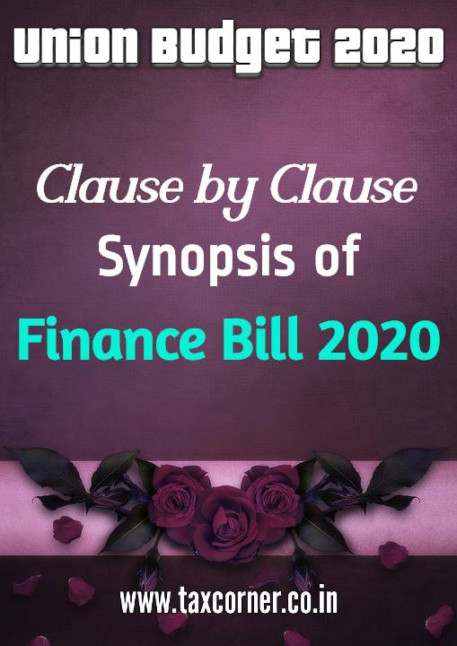 Clause by Clause Synopsis of Finance Bill 2020