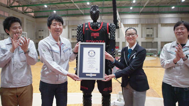 most consecutive basketball free throws by a humanoid robot (assisted)