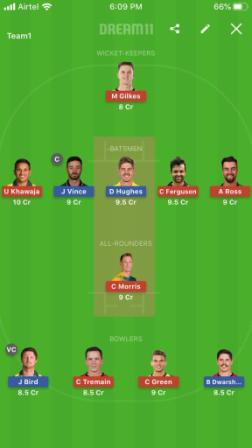 Dream 11 Prediction Thunder vs Sixer 14th Match BBL T20 Captain & Vice Captain